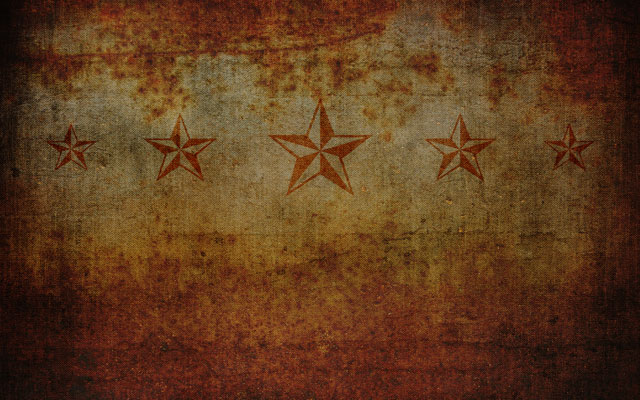 Rusted Stars Distressed Wallpaper Preview, Grunge Rust and Canvas Texture with Tattoo Nautical Stars
