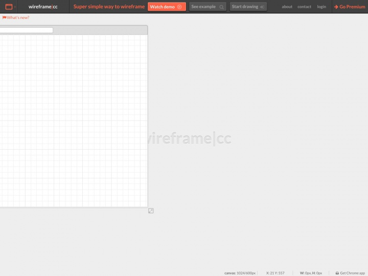 Wireframe.cc Screenshot - minimalist mobile, tablet, and browser wireframing app