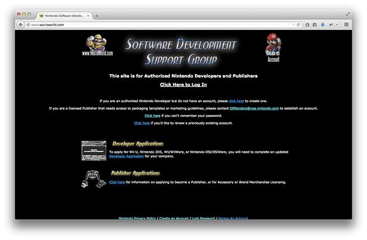 Nintendo Development Portal Just Opened