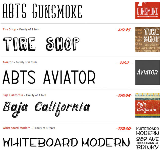 5 Fonts from the FontDeals.com Summer 2011 Pack