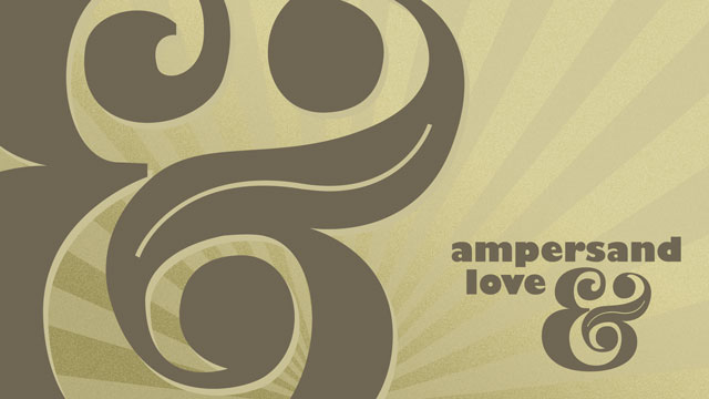 Ampersand Love Wallpaper Preview