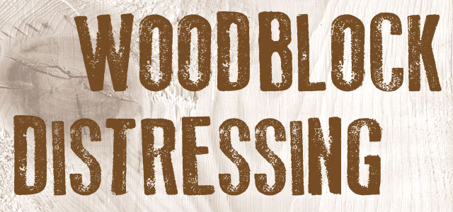 Old Press Font Example - Woodblock Letters, Wood Texture, Distressed Lettering, Wood Block Print