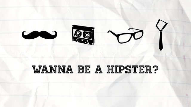 Hipster Icons Wallpaper Preview - Moustache, Cassette Tape, Glasses, Skinny Tie