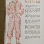 1954 Cub Scout Handbook - Your New Uniform Illustration, Neckerchief, Boots