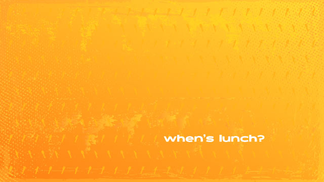 When's Lunch Wallpaper Preview - Spoon Fork Knife Icons, Distressed Grunge Texture