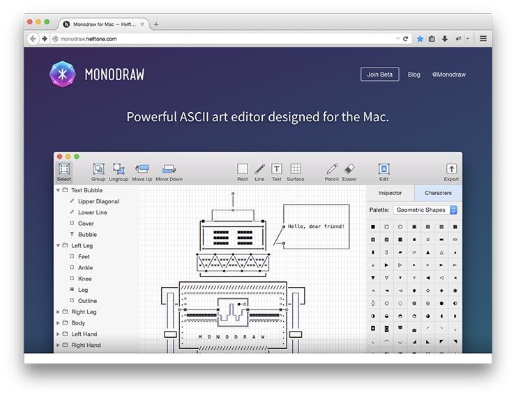 Monodraw ASCII Art Editor Â« SpareType